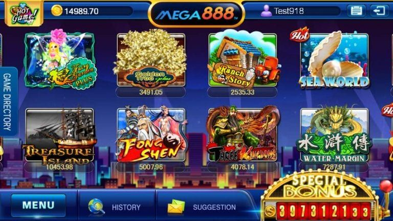 a wide span of winning mega888 options games in it that provide